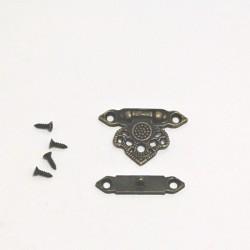 Kovový uzávěr Romantik 3,7x2,5cm