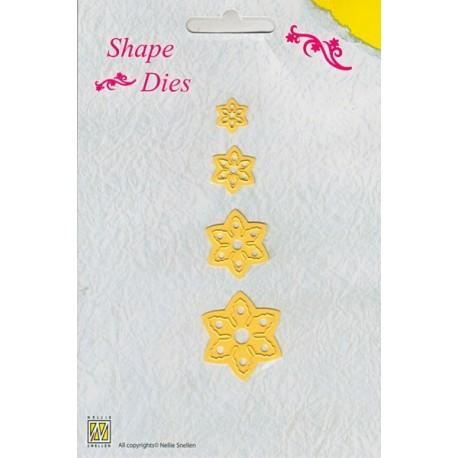 Vyřezávací šablona - vánoční květ Shape Dies Nellie´s Choice