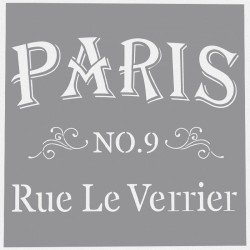 Šablona - Paris Rue Le Verrier 30,5x30,5cm