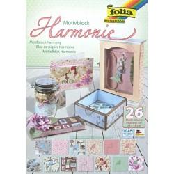 Blok vzorovaných papírů 26 listů - Harmonie