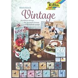 Blok vzorovaných papírů 26 listů - Vintage