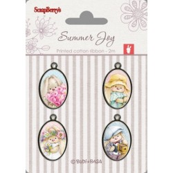 Set epoxy přívěsků Summer Joy 4ks