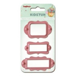 Ozdobné štítky Kids Fun 3ks růžové