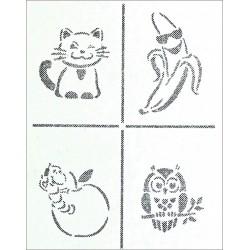 Šablona - Malá zvířátka, A4