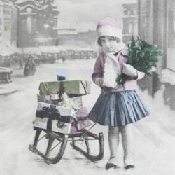 Dívka a dárky II. 33x33