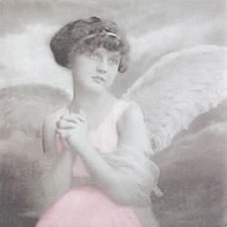 Zamyšlený anděl 33x33