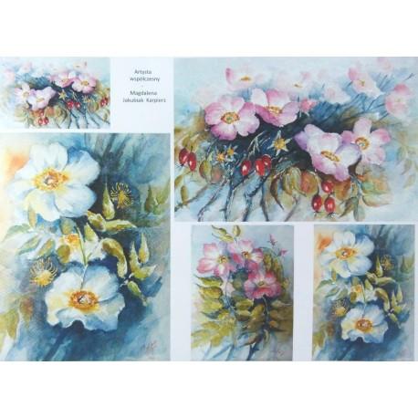 Papír A4 Malovaná šípková růže ITD