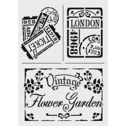 Šablona - Vintage Flower Garden, vel. A4