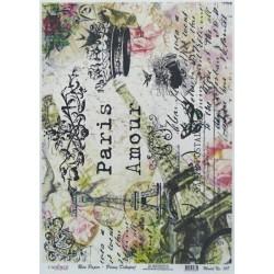 Rýžový papír A4 Paris Amour