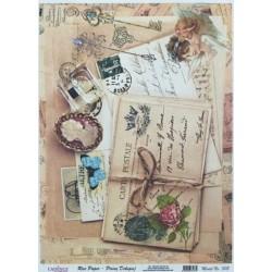 Rýžový papír A4 Carte Postale a kamej