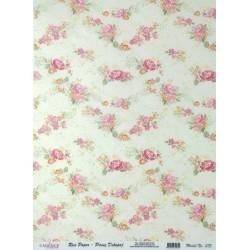 Rýžový papír A4 Malované růžičky
