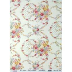 Rýžový papír A4 Květinový motiv