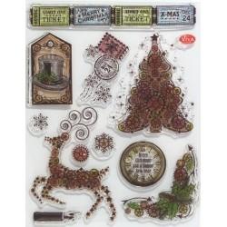 Transp.razítka D117 Steampunk Vánoční stromeček