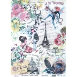 Rýžový papír A3 La Vie Parisienne