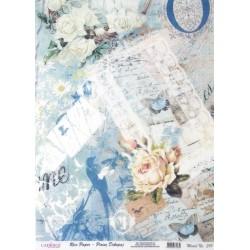 Rýžový papír A3 Růže a různé motivy domodra