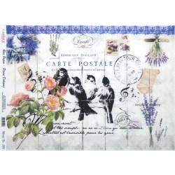 Rýžový papír A3 Carte Postale