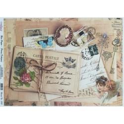 Rýžový papír A3 Carte Postale a kamej