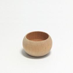 Dřevěný svícen zaoblený malý