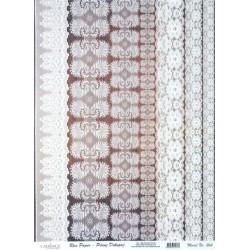 Rýžový papír A3 Krajkové bordury I.