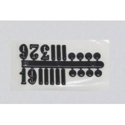 Číslice, puntíky - nalepovací, černé