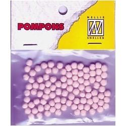 Mini bambulky 3mm - sv.růžová