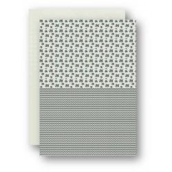 Papír na pozadí A4 - pískový s kytičkami