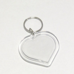 Akrylová klíčenka Srdíčko