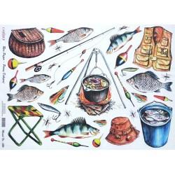 Papír rýžový A3 Rybaření