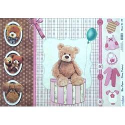 Rýžový papír A3 Plyšový medvídek