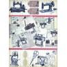 Rýžový papír A3 Šicí stroje retro