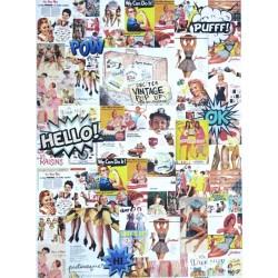 Rýžový papír A3 Retro obrázky