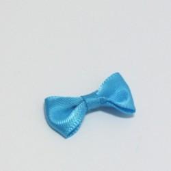 Malá saténová mašlička modrá