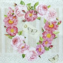 Srdce z růžiček 33x33
