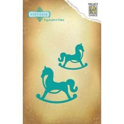 Vyřezávací šablony - houpací koně Nellie´s Choice