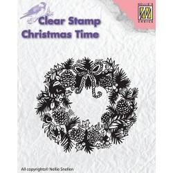 Transp.razítko Vánoční věnec (Nellie Snellen)