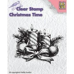 Transp.razítko Vánoční svíčky (Nellie Snellen)