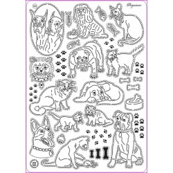 Mřížka Multi grid č.44 - Kočky & psi