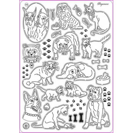 Mřížka Mini grid č.44 - Kočky & psi