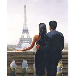 Reprodukce obrazu 24x30 - výhled na Eiffelovku