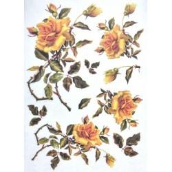 Papír rýžový A4 Žlutá růže