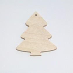 Dřevěný přívěsek stromek