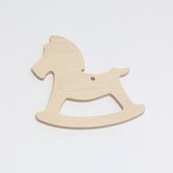 Dřevěný přívesek koník