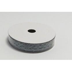 Krajka bavlněná 1,3cmx5m šedá