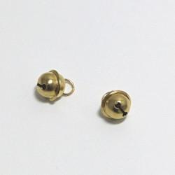 Kovová rolnička 10mm zlatá
