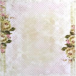 Dům růží, čajové růže 30,5x30,5 scrapbook