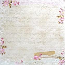 Dům růží, staré písmo 30,5x30,5 scrapbook