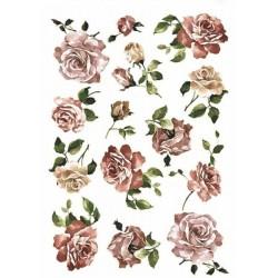 Papír rýžový A4 Růže růžové