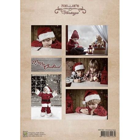 Nellie Vintage A4 - vánoční s chlapci