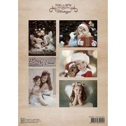 Nellie Vintage A4 - vánoční s dívkami