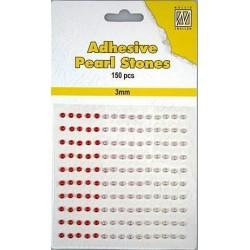 Samolepící perličky 3mm - dočervena Nellie´s Choice
